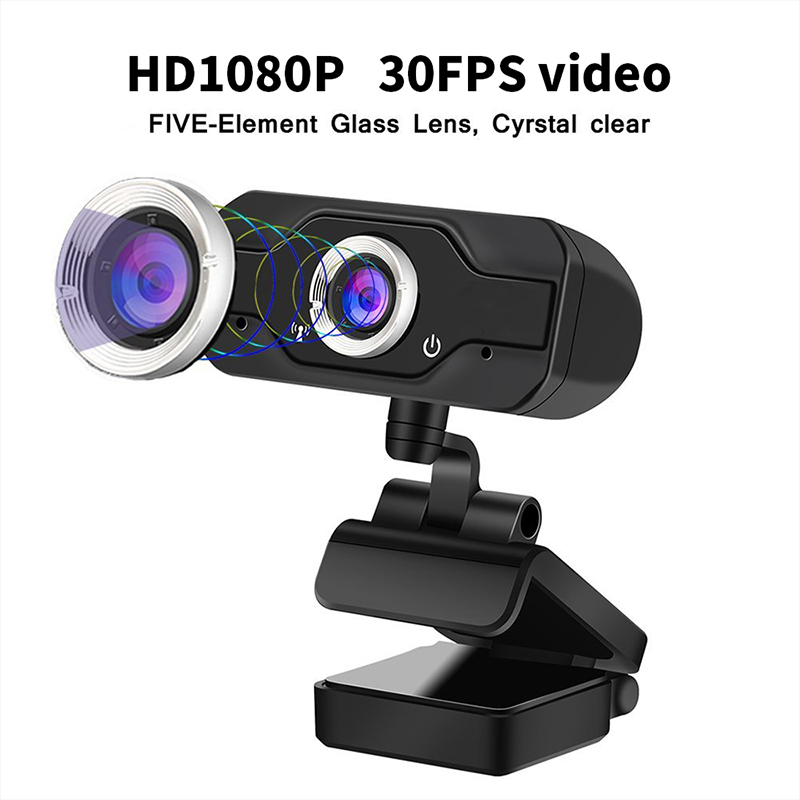 HD 1080P Webcam PC Laptop Web Camera,110 opfen 176; Wide-Angle mit USB 2.0 Video Recorder Live Broadcast Camera Build-in Mikrofon